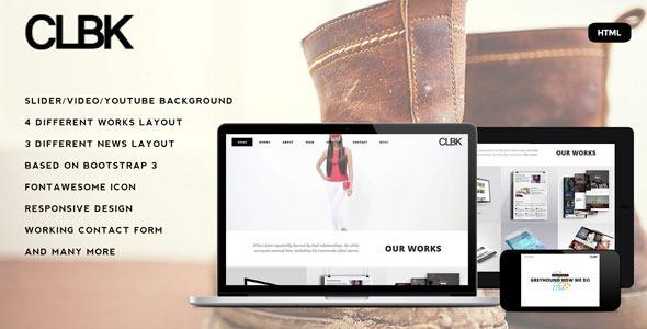CLBK - Responsive One Page Portfolio Template - Portfolio Creative