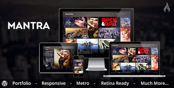 Mantra - Portfolio Metro WordPress Theme