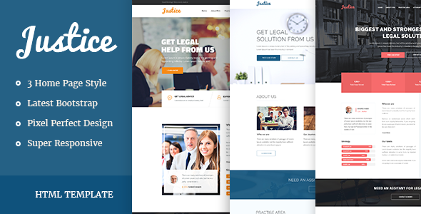JUSTICE – Law & Business HTML Template