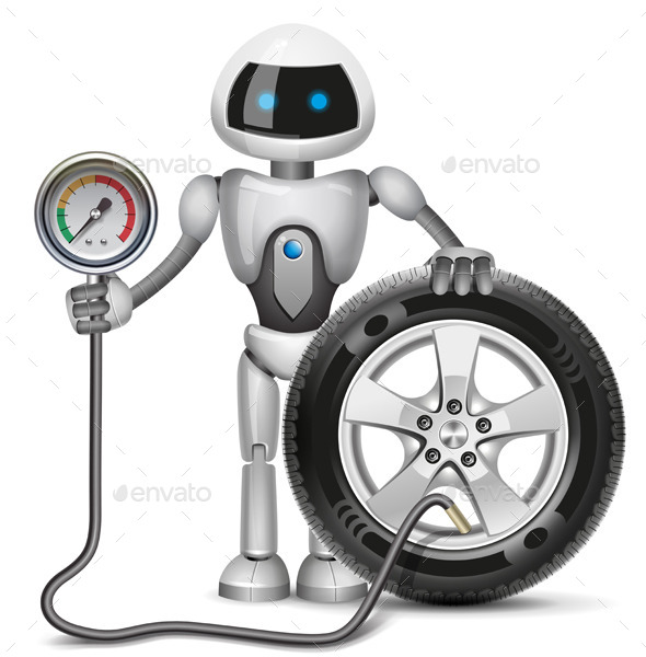 Robot Measures the Pressure - Services Commercial / Shopping