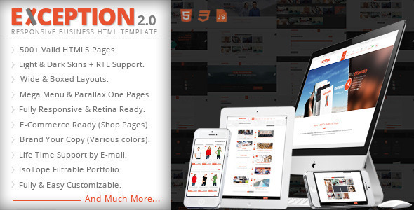 EXCEPTION – Responsive Business HTML Template