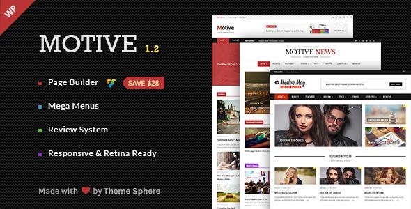 Motive - Magazine, News, Blog WordPress Theme