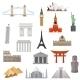 Architecture, Monument Or Landmark Icon. - GraphicRiver Item for Sale