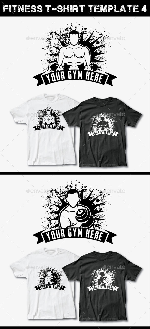 Fitness T-Shirt Template 4 - Grunge Designs