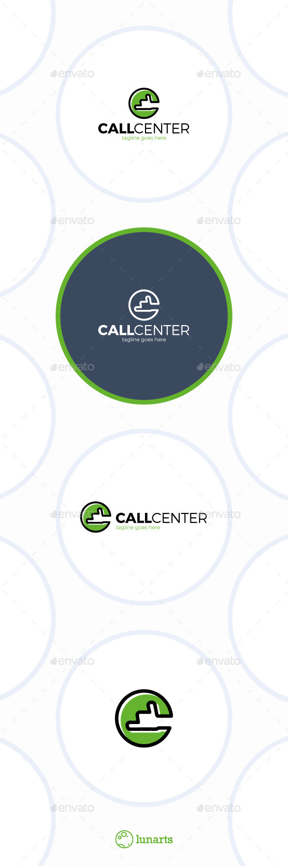 Call Center Logo - Letter C - Letters Logo Templates