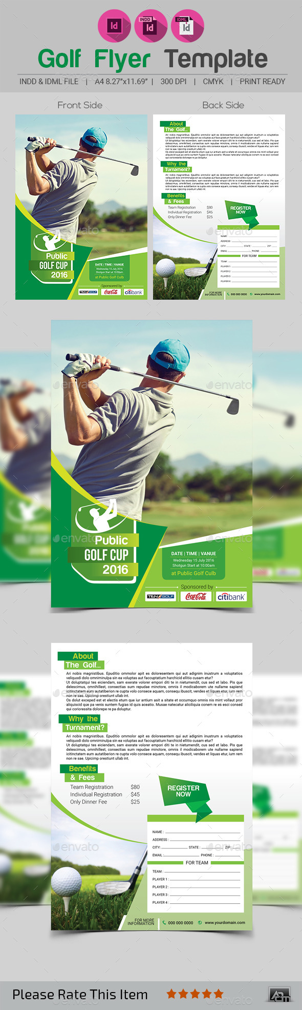 Golf Flyer Template V2 - Sports Events