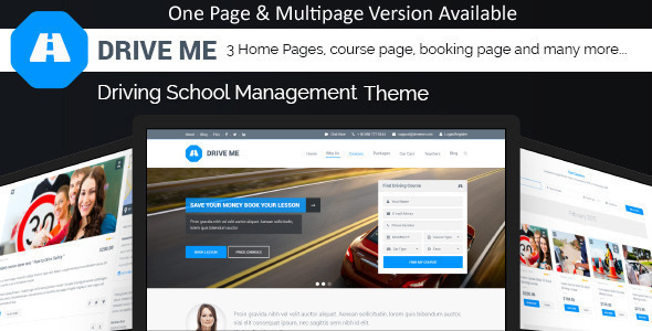 Driveme – Driving Class | School HTML Template