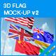 3D Flag Mockup V2 - GraphicRiver Item for Sale