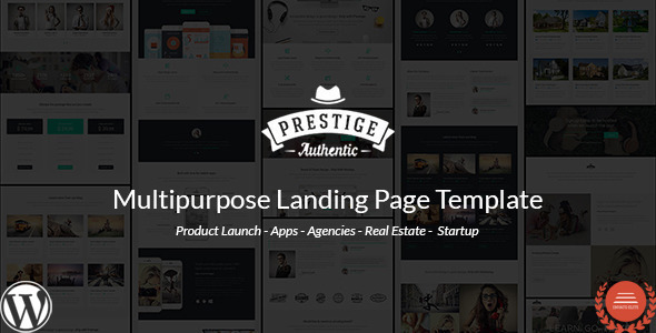 Prestige – Multi Purpose WordPress Landing Pages