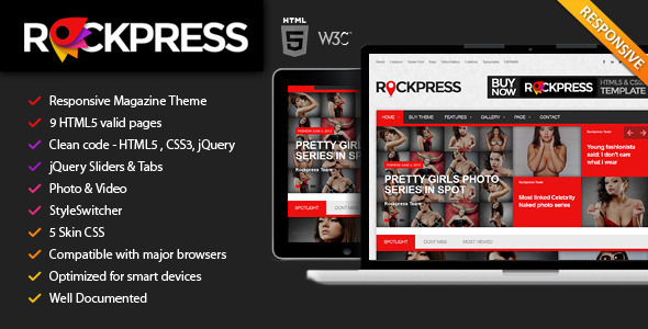 Rockpress Responsive Magazine HTML5 Template