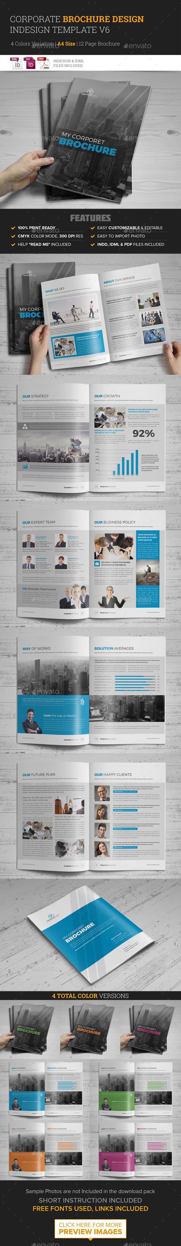 Corporate Multipurpose Brochure Template v6  - Corporate Brochures