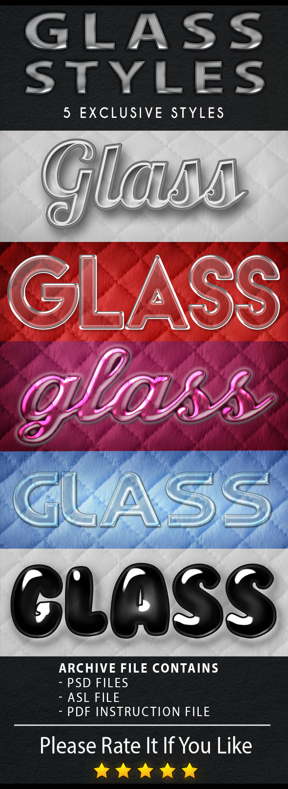 Glass style - Text Effects Styles