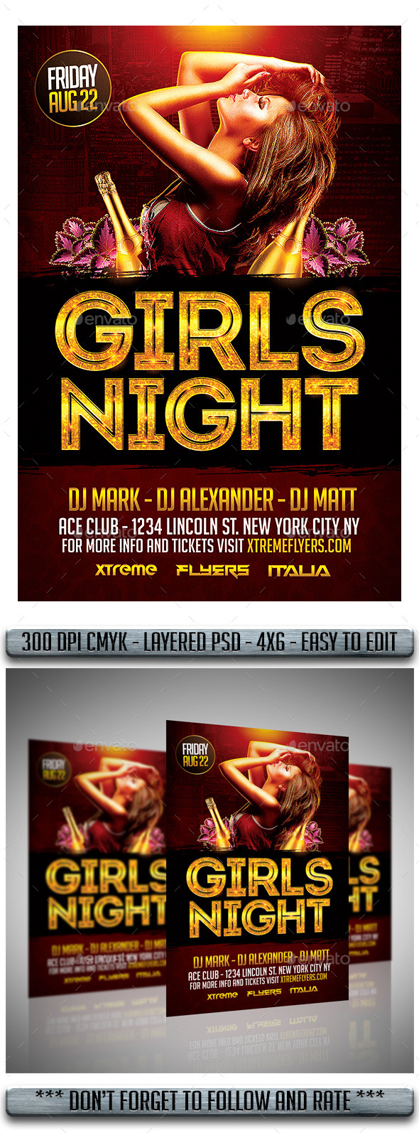 Ladies Night Flyer - Flyers Print Templates