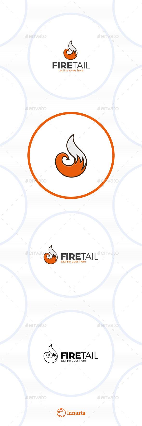 Fire Fox Tail Logo - Animals Logo Templates