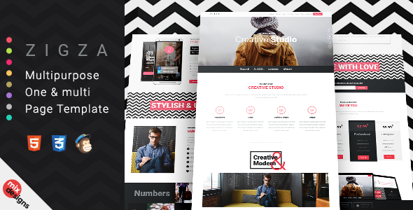 Zigza – Multipurpose Page Template