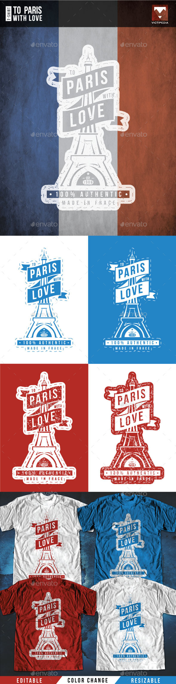 To Paris With Love - T-Shirts