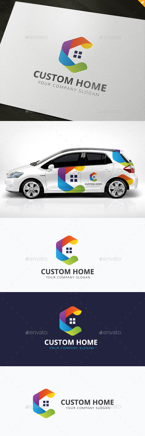Custom Home - Buildings Logo Templates
