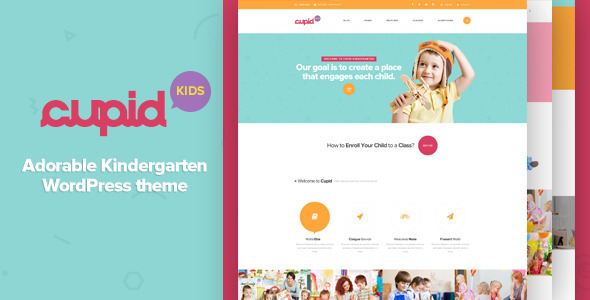 CUPID – Adorable Kindergarten WordPress Theme
