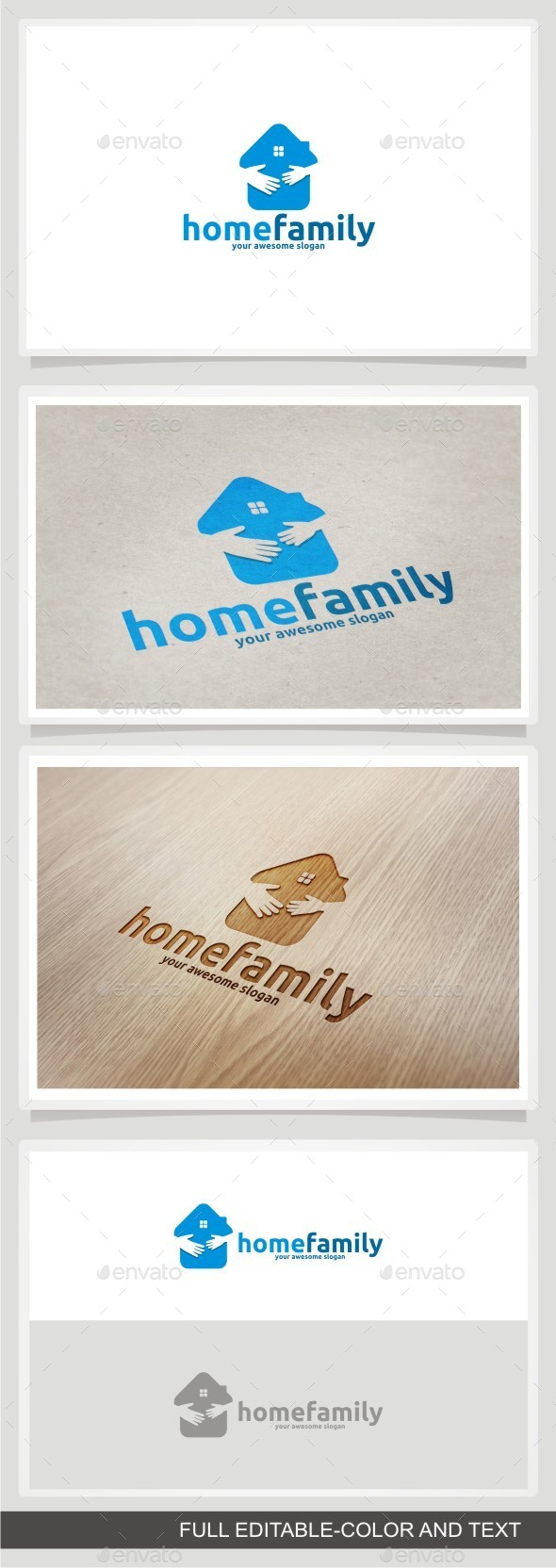 Home Family - Buildings Logo Templates