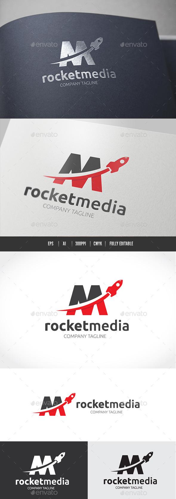 Rocket Media - Letters Logo Templates