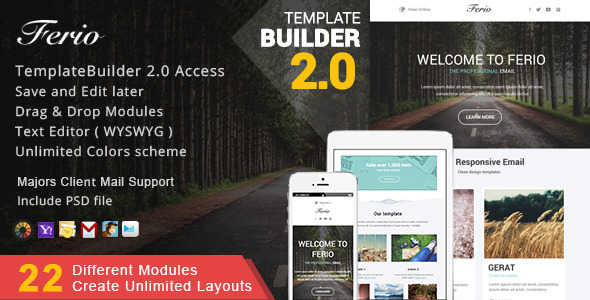Multimail | Responsive Email Template Set + Builder Online - 20