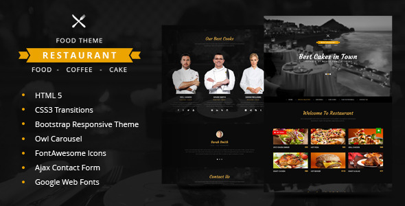 Restaurant | One Page Restaurant HTML5 Theme - Restaurants & Cafes Entertainment