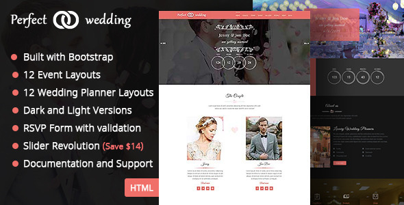 Perfect Wedding – Wedding Event & Planner Template