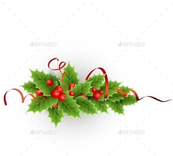Christmas  Holly with Berries - Christmas Seasons/Holidays
