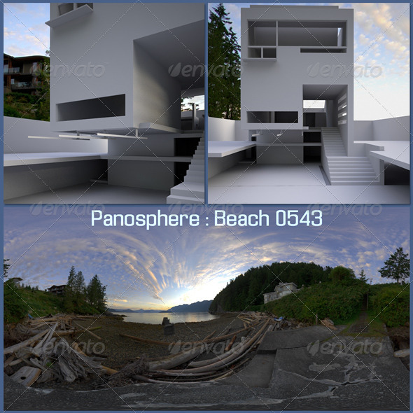 Panosphere HDRI - Beach 0543 - 3DOcean Item for Sale