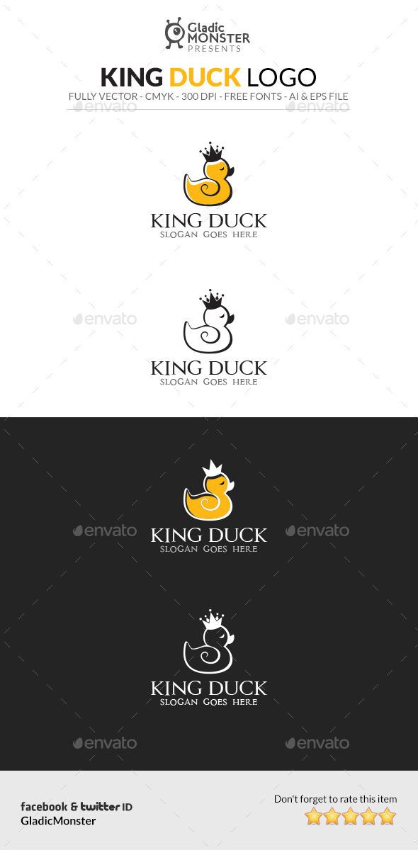 King Duck Logo - Animals Logo Templates