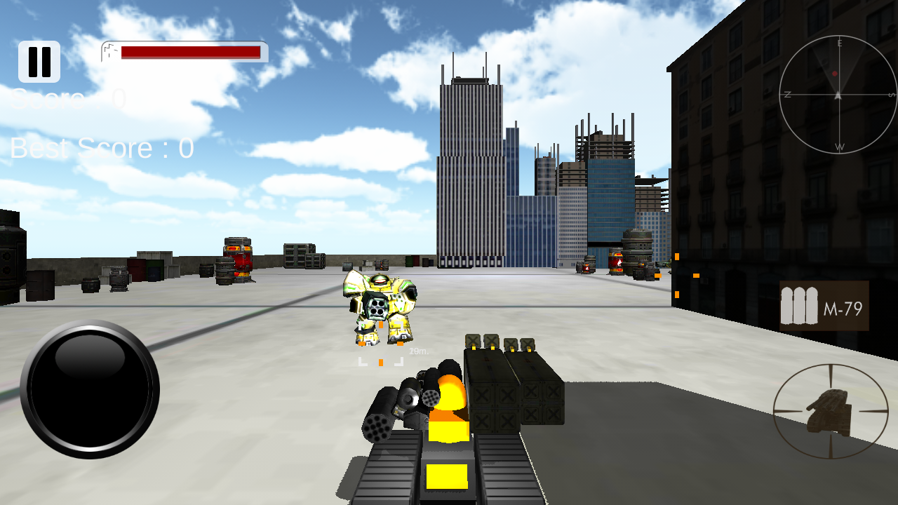 City Robots Attack 3D