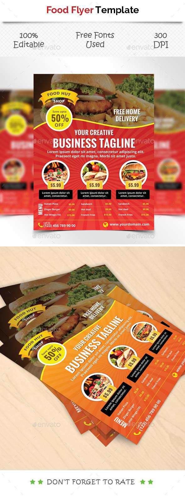 Food Flyer Tempate - Restaurant Flyers