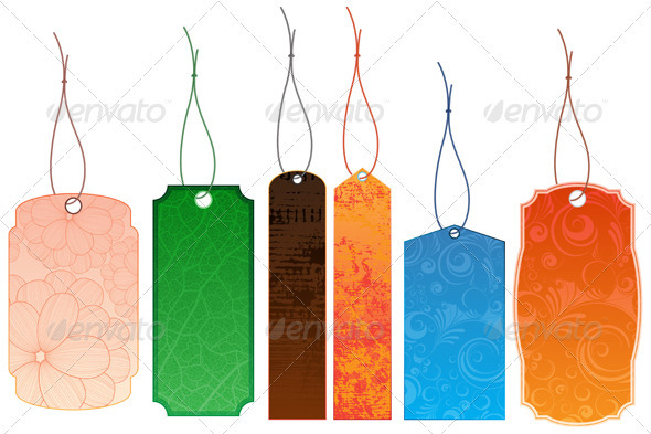 Vector labels - Backgrounds Decorative