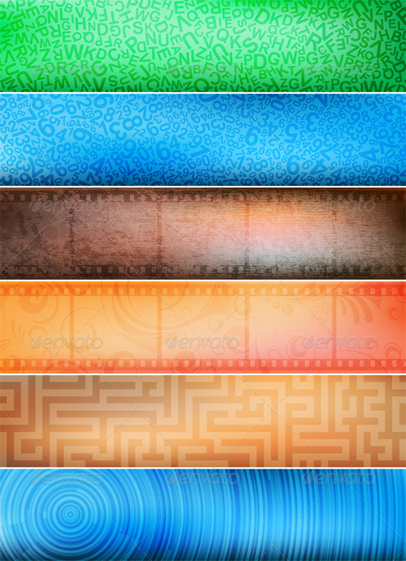 Vector banners - Backgrounds Decorative