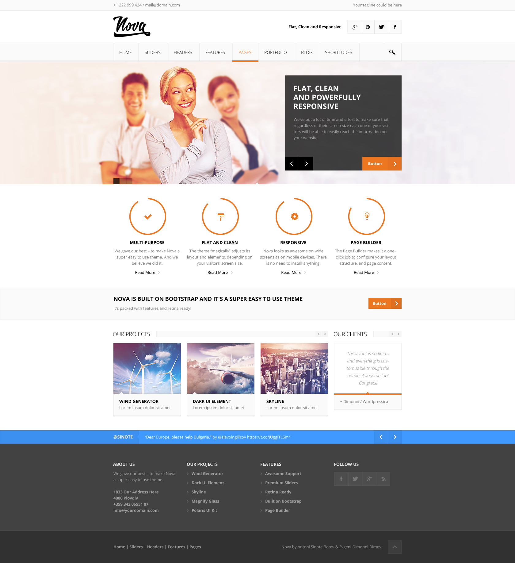 Nova flat clean responsive theme by sinote themeforest nova flat clean responsive theme reheart Image collections