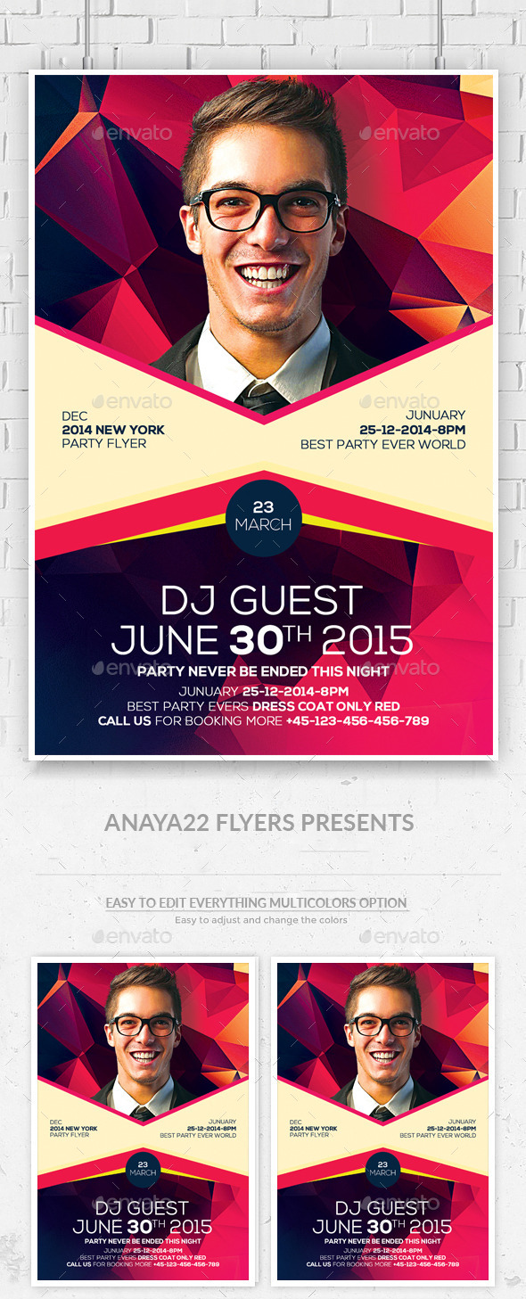 Artist Event Flyer Psd Flyer - Clubs & Parties Events
