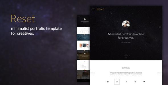 Reset - Minimalistic Portfolio Theme