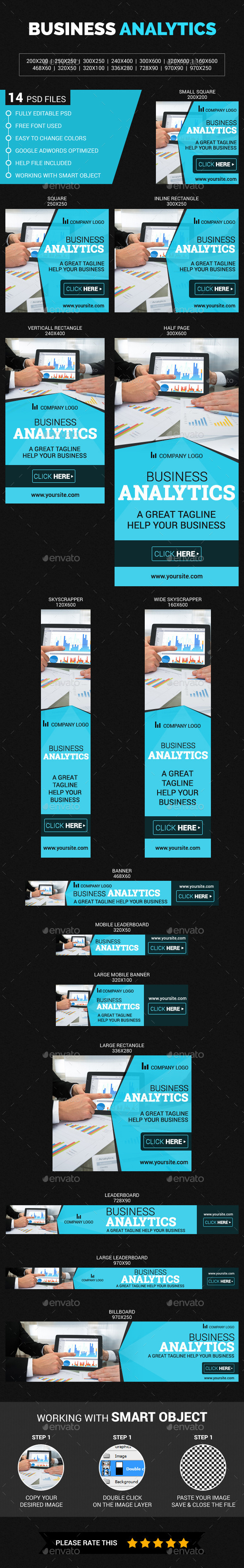 Business  Analytics - Banners & Ads Web Elements