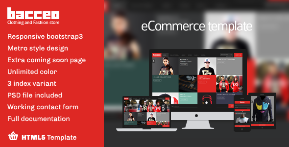 Bacceo metro style eCommerce template - Shopping Retail