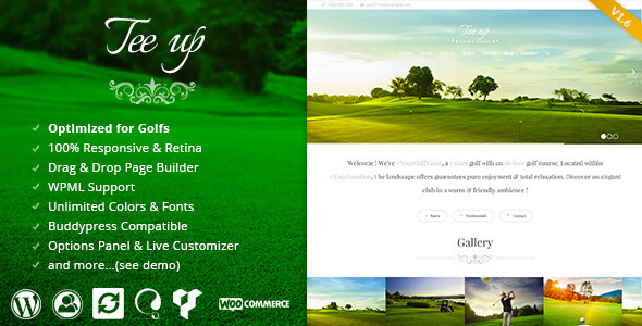 Tee Up – Elegant Golf WordPress Theme