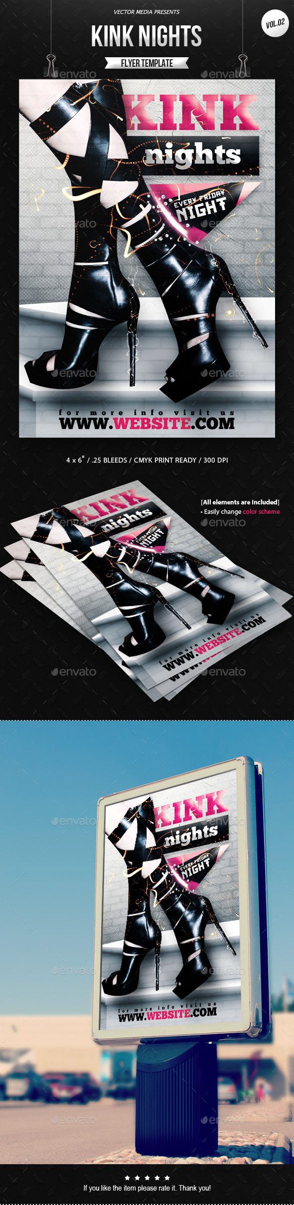 Kink Nights - Flyer [Vol.2] - Clubs & Parties Events