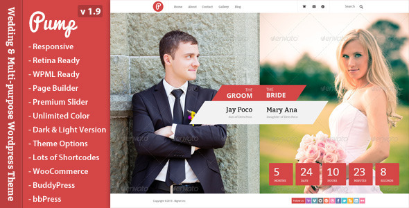 Pump – Responsive Wedding & Multi-purpose Theme