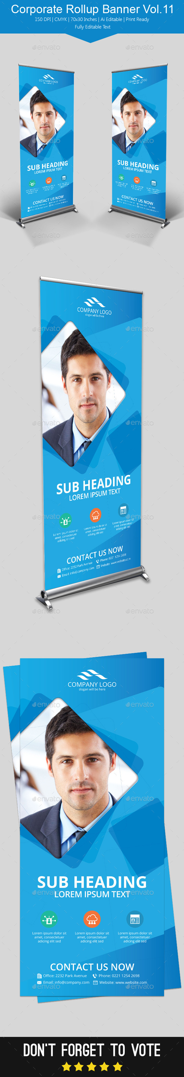 Corporate Rollup Banner Vol.11 - Signage Print Templates