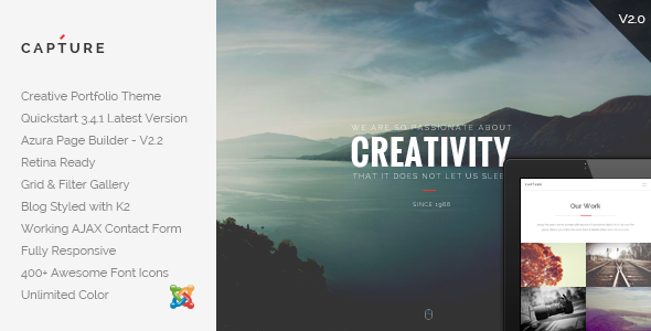 Capture – Creative Portfolio Joomla Template