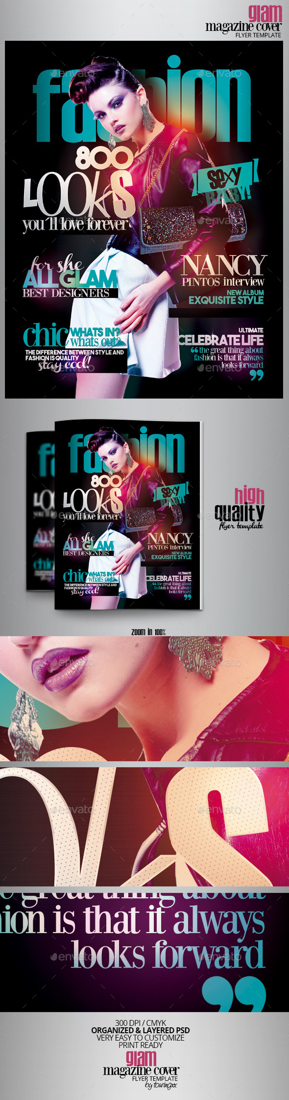 Glam Magazine Cover Flyer Template - Events Flyers
