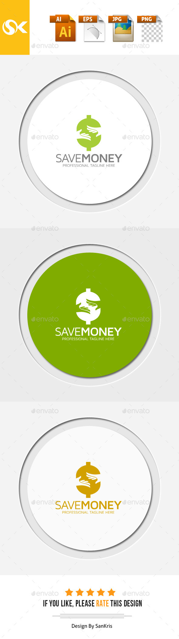 Save Money - Letters Logo Templates