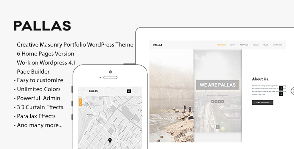 Pallas – Creative Multi-Purpose WordPress Theme