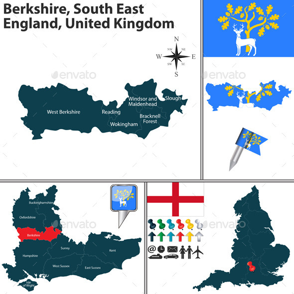 Berkshire South East England UK - Travel Conceptual