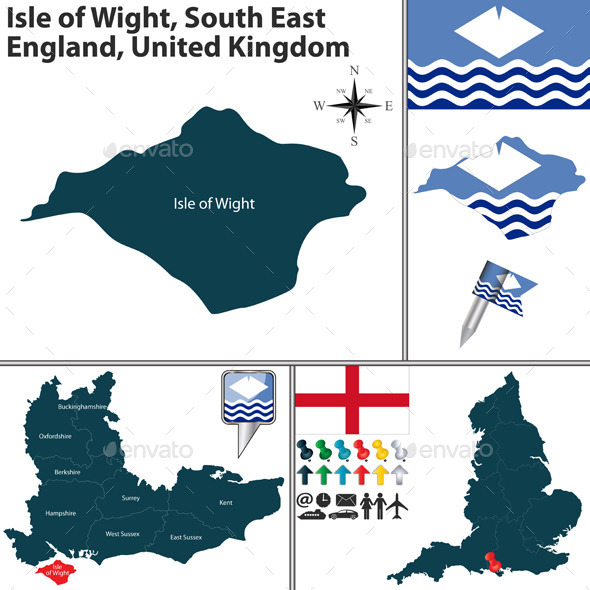 Isle of Wight South East England UK - Travel Conceptual