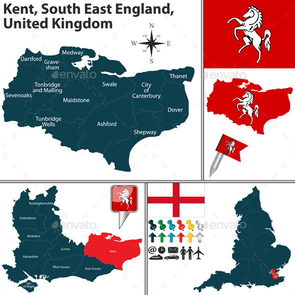 Kent South East England UK - Travel Conceptual